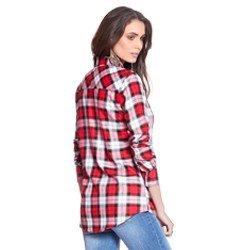 camisa vermelha xadrez principessa thalita modelagem