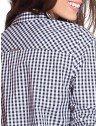 camisa xadrez preta principessa aracele costas detalhes