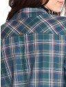 camisa xadrez verde principessa kimberly costas detalhes