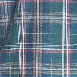 camisa xadrez verde principessa kimberly tecido