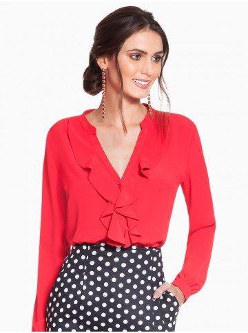 camisa feminina vermelho principessa lissa frente