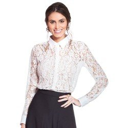 camisa renda off white principessa ana rita geral