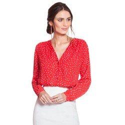 camisa de poa vermelha principessa caterin geral