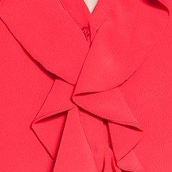 camisa feminina vermelha com babados principessa lissa babados