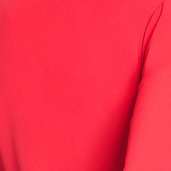camisa feminina vermelha com babados principessa lissa tecido