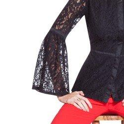 camisa rendada preta principessa augusta detalhes