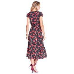 vestido floral transpassado principessa jade modelagem