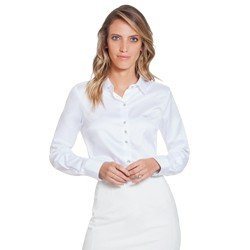 camisa de cetim branca com botoes em cristais principessa aurea geral
