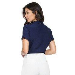 blusa marinho com detalhes em guipir principessa valencia modelagem