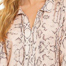 blusa animal print cobra principessa geane detalhes