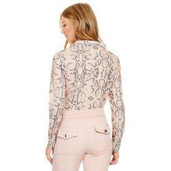blusa animal print cobra principessa geane modelagem