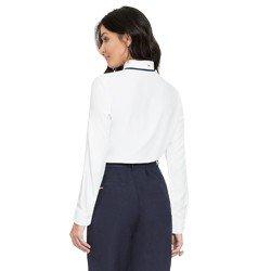 camisa com gola laco off white principessa margarete modelagem
