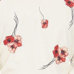 blusa off white floral principessa carmen tecido