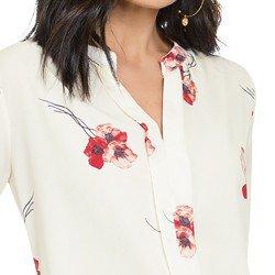 blusa off white floral principessa florence detalhes