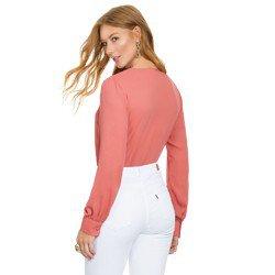 camisa feminina coral principessa brianna modelagem