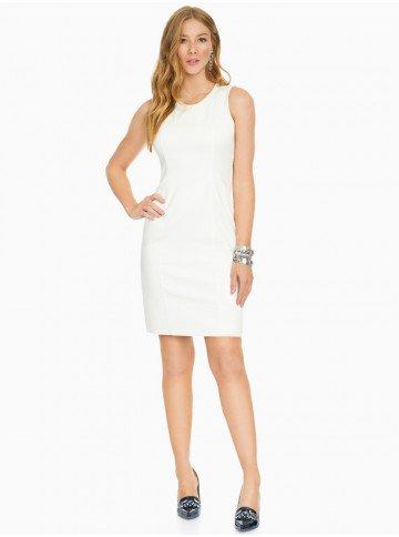 vestido alfaiataria off white principessa julia frente