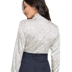 camisa social de cetim estampado principessa franciane tecido modelagem