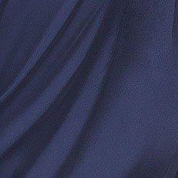 camisa de cetim marinho transpassada com laco principessa madallena tecido