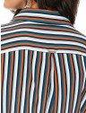 camisa feminina listrada principessa amelia costas detalhes