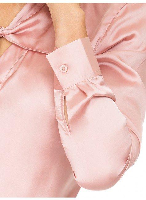 712e6717c ... camisa de cetim rose principessa miriam detalhes punho ...