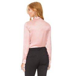 camisa de cetim rose principessa miriam modelagem