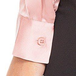 camisa de cetim rose principessa miriam BOTAO