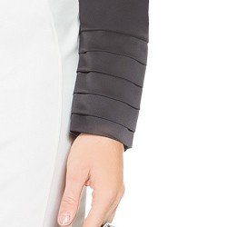blusa de cetim preta principessa lizandra drapeados