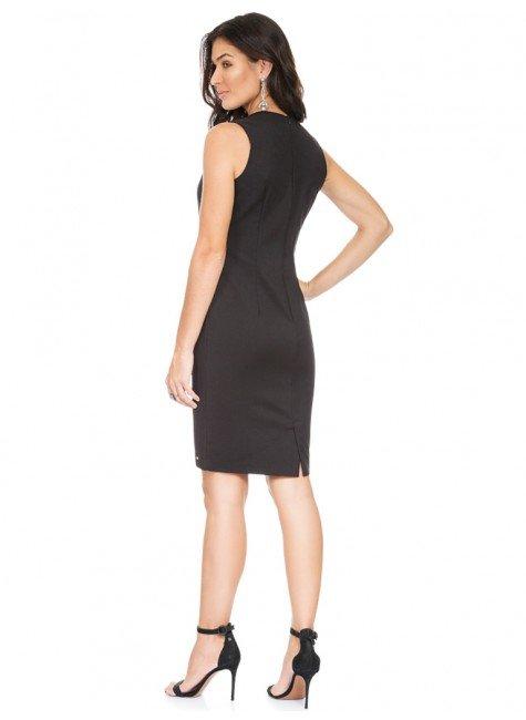 fb4d4d0d52e0 ... frente com camisa · vestido de alfaiataria preto justo principessa  claudete costas ...