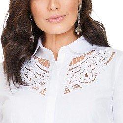 camisa branca com bordado vazado principessa naiana BORDADO