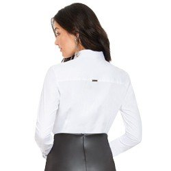 camisa branca com bordado vazado principessa naiana MODELAGEM