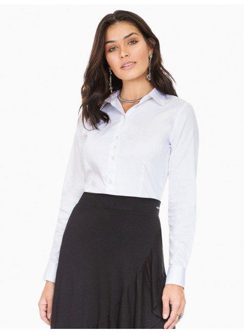 camisa social branca principessa roberta frente