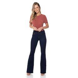calca flare escura denim zero dz237512 descricao