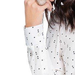 camisa off white estampada principessa cibele aviamento