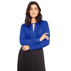 blusa com nervuras azul principessa zafia geral