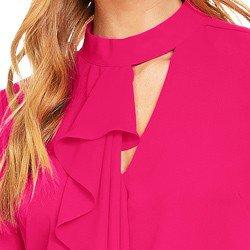 blusa pink com babados principessa edna detalhes avios