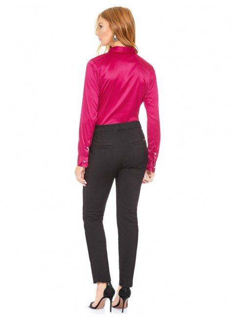 d01ef12c5a ... camisa social de cetim marsala principessa liliana costas total