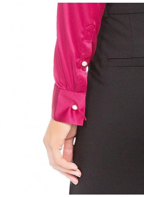 b550cdfb8b ... camisa social de cetim marsala principessa liliana costas mangas ...
