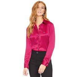camisa social de cetim marsala principessa liliana geral
