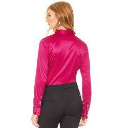 camisa social de cetim marsala principessa liliana modelagem