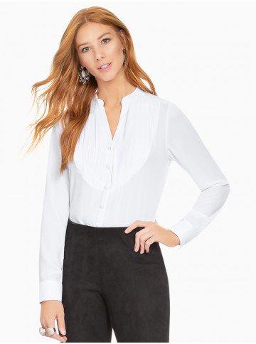 f1e6ecc80d camisa feminina com recorte plissado principessa emilia frente com fundo
