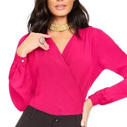 blusa feminina pink principessa otavia transpasse
