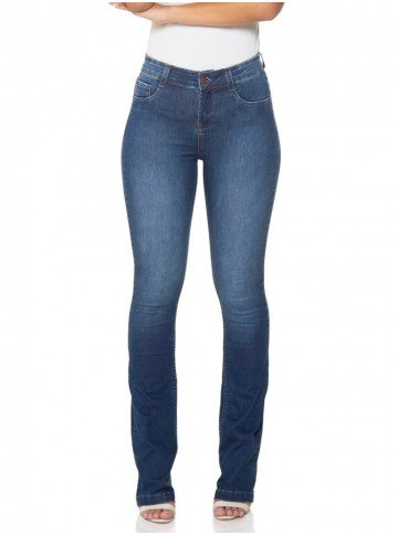 calca jeans boot cut amaciada denim zero dz2442 12 frente