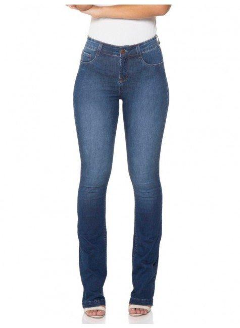 calca jeans boot cut amaciada denim zero dz2442 12 frente