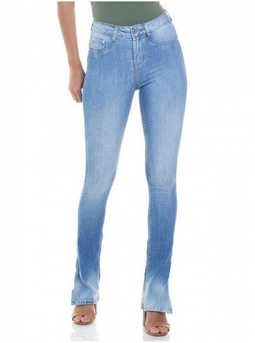 calca jeans feminina estonada boot cut denim zero dz 2814 frente