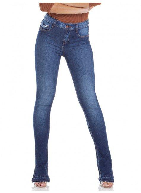 calca jeans feminina estonada denim zero dz2927 frente