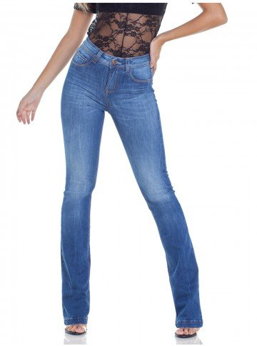 calca boot cut estonada denim zero dz2946 frente