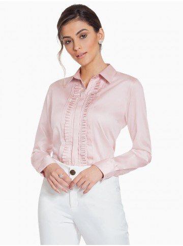 camisa feminina rose principessa glenda frente com fundo