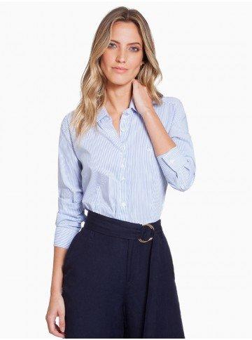 camisa listrada azul principessa ellora frente com fundo