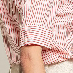 camisa listrada coral cecilia detalhes