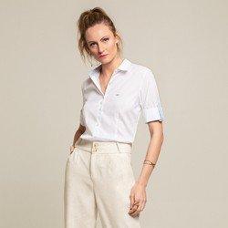camisa 3 4 branca julie geral